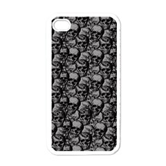Skulls Pattern  Apple Iphone 4 Case (white) by Valentinaart
