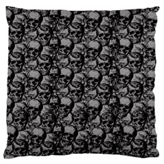 Skulls Pattern  Large Cushion Case (one Side) by Valentinaart