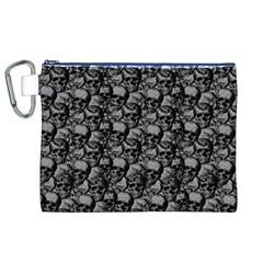 Skulls Pattern  Canvas Cosmetic Bag (xl) by Valentinaart