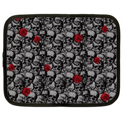 Skulls And Roses Pattern  Netbook Case (xl)