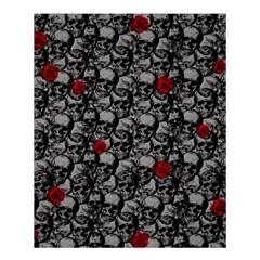 Skulls And Roses Pattern  Shower Curtain 60  X 72  (medium)  by Valentinaart