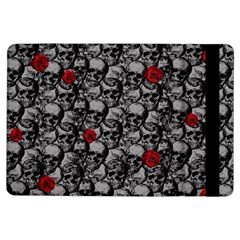 Skulls And Roses Pattern  Ipad Air Flip by Valentinaart
