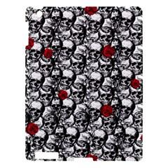 Skulls And Roses Pattern  Apple Ipad 3/4 Hardshell Case by Valentinaart