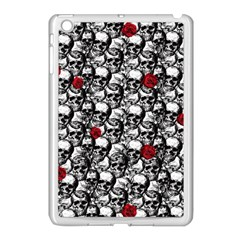 Skulls And Roses Pattern  Apple Ipad Mini Case (white) by Valentinaart