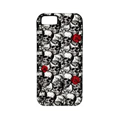 Skulls And Roses Pattern  Apple Iphone 5 Classic Hardshell Case (pc+silicone) by Valentinaart
