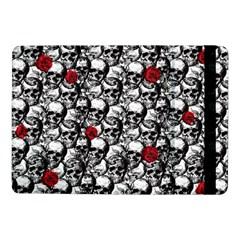 Skulls And Roses Pattern  Samsung Galaxy Tab Pro 10 1  Flip Case by Valentinaart