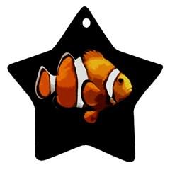 Clown Fish Ornament (star) by Valentinaart