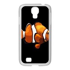 Clown Fish Samsung Galaxy S4 I9500/ I9505 Case (white) by Valentinaart