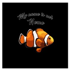 Clown Fish Large Satin Scarf (square) by Valentinaart