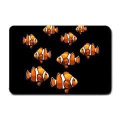 Clown Fish Small Doormat  by Valentinaart