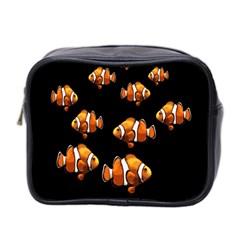 Clown Fish Mini Toiletries Bag 2 Side by Valentinaart