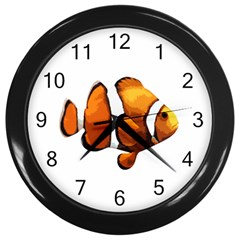 Clown Fish Wall Clocks (black) by Valentinaart