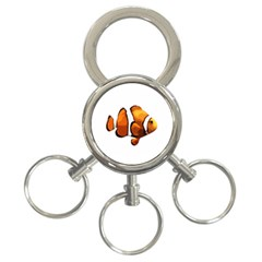 Clown Fish 3 Ring Key Chains by Valentinaart