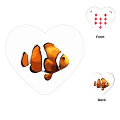 Clown Fish Playing Cards (heart)  by Valentinaart