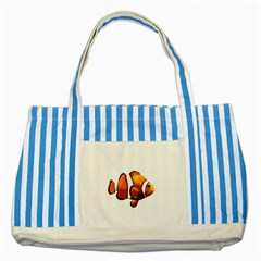Clown Fish Striped Blue Tote Bag by Valentinaart