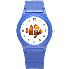 Clown Fish Round Plastic Sport Watch (s) by Valentinaart