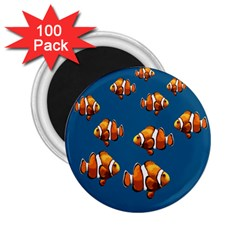 Clown Fish 2 25  Magnets (100 Pack)  by Valentinaart