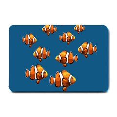 Clown Fish Small Doormat  by Valentinaart