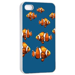 Clown Fish Apple Iphone 4/4s Seamless Case (white) by Valentinaart