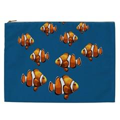 Clown Fish Cosmetic Bag (xxl)  by Valentinaart