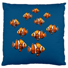 Clown Fish Large Flano Cushion Case (two Sides) by Valentinaart