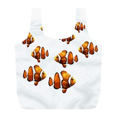 Clown Fish Full Print Recycle Bags (l)  by Valentinaart