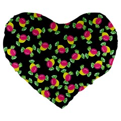 Candy Pattern Large 19  Premium Heart Shape Cushions by Valentinaart