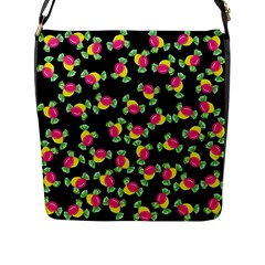 Candy Pattern Flap Messenger Bag (l)  by Valentinaart