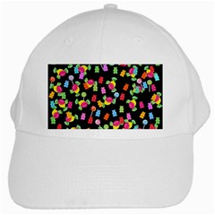 Candy Pattern White Cap by Valentinaart