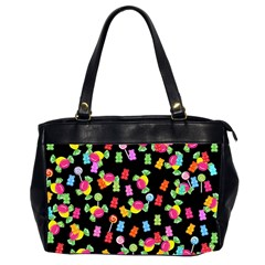 Candy Pattern Office Handbags (2 Sides)  by Valentinaart