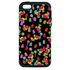 Candy Pattern Apple Iphone 5 Hardshell Case (pc+silicone) by Valentinaart