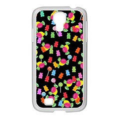 Candy Pattern Samsung Galaxy S4 I9500/ I9505 Case (white) by Valentinaart