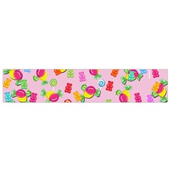 Candy Pattern Flano Scarf (small) by Valentinaart