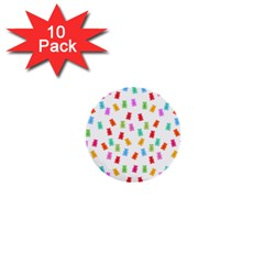Candy Pattern 1  Mini Buttons (10 Pack)  by Valentinaart