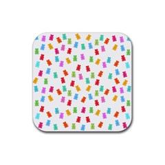 Candy Pattern Rubber Coaster (square)  by Valentinaart