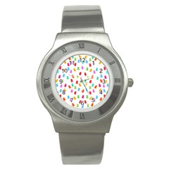 Candy Pattern Stainless Steel Watch by Valentinaart