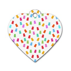 Candy Pattern Dog Tag Heart (one Side) by Valentinaart