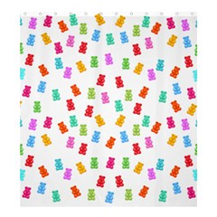 Candy Pattern Shower Curtain 66  X 72  (large)  by Valentinaart