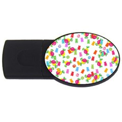 Candy Pattern Usb Flash Drive Oval (2 Gb) by Valentinaart
