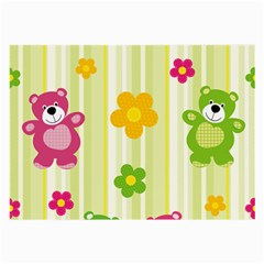 Animals Bear Flower Floral Line Red Green Pink Yellow Sunflower Star Large Glasses Cloth by Mariart
