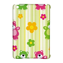 Animals Bear Flower Floral Line Red Green Pink Yellow Sunflower Star Apple Ipad Mini Hardshell Case (compatible With Smart Cover) by Mariart