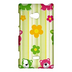 Animals Bear Flower Floral Line Red Green Pink Yellow Sunflower Star Nokia Lumia 720 by Mariart