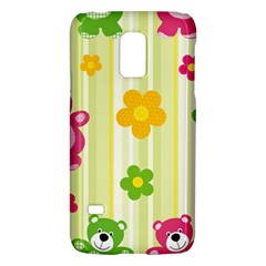 Animals Bear Flower Floral Line Red Green Pink Yellow Sunflower Star Galaxy S5 Mini by Mariart