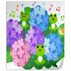 Animals Frog Face Mask Green Flower Floral Star Leaf Music Canvas 20  X 24   by Mariart