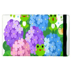 Animals Frog Face Mask Green Flower Floral Star Leaf Music Apple Ipad 2 Flip Case by Mariart