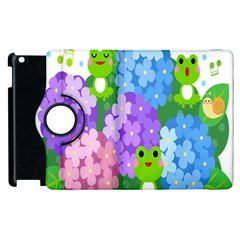 Animals Frog Face Mask Green Flower Floral Star Leaf Music Apple Ipad 3/4 Flip 360 Case by Mariart