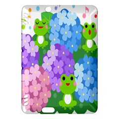 Animals Frog Face Mask Green Flower Floral Star Leaf Music Kindle Fire Hdx Hardshell Case by Mariart