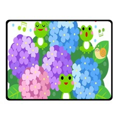 Animals Frog Face Mask Green Flower Floral Star Leaf Music Double Sided Fleece Blanket (small)  by Mariart