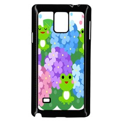 Animals Frog Face Mask Green Flower Floral Star Leaf Music Samsung Galaxy Note 4 Case (black) by Mariart