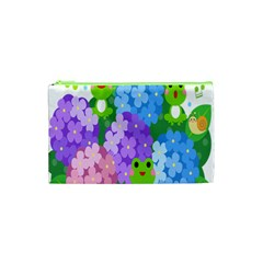 Animals Frog Face Mask Green Flower Floral Star Leaf Music Cosmetic Bag (xs) by Mariart